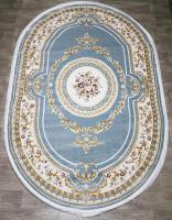 Ковер Lara 20222d oval blue cream(Турция)